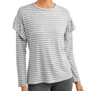 NWT stripes and ruffles - cute top!